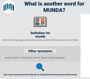 munda, synonym munda, another word for munda, words like munda, thesaurus munda