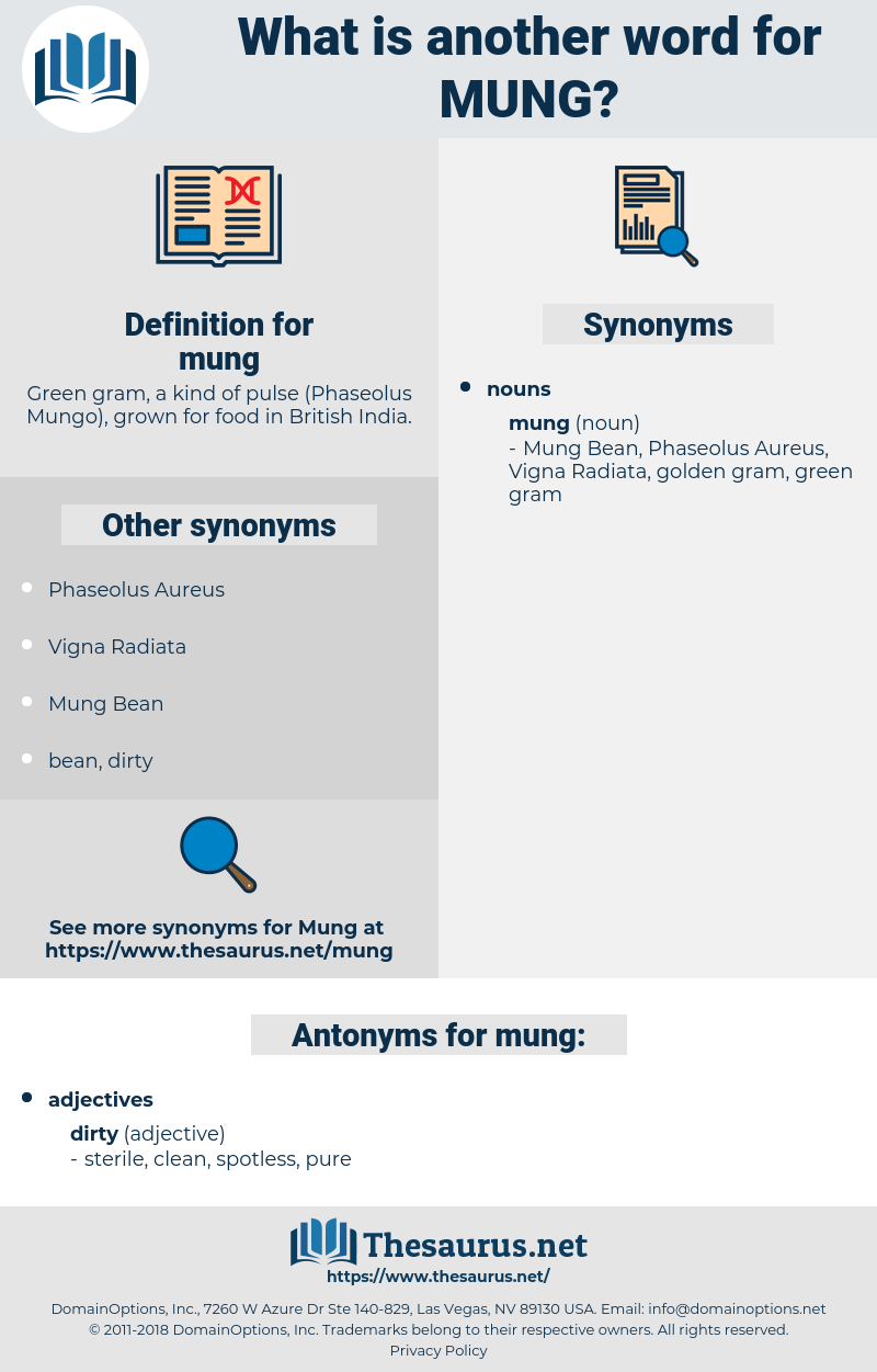 mung, synonym mung, another word for mung, words like mung, thesaurus mung