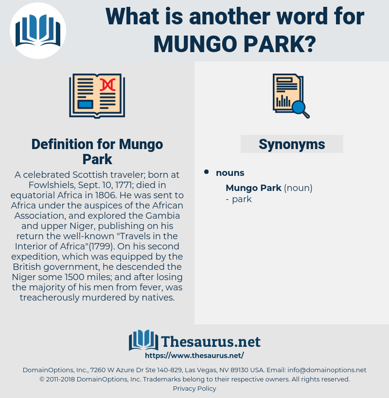 Mungo Park, synonym Mungo Park, another word for Mungo Park, words like Mungo Park, thesaurus Mungo Park
