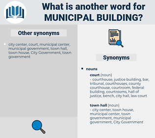 municipal building, synonym municipal building, another word for municipal building, words like municipal building, thesaurus municipal building