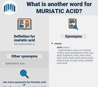 muriatic acid, synonym muriatic acid, another word for muriatic acid, words like muriatic acid, thesaurus muriatic acid