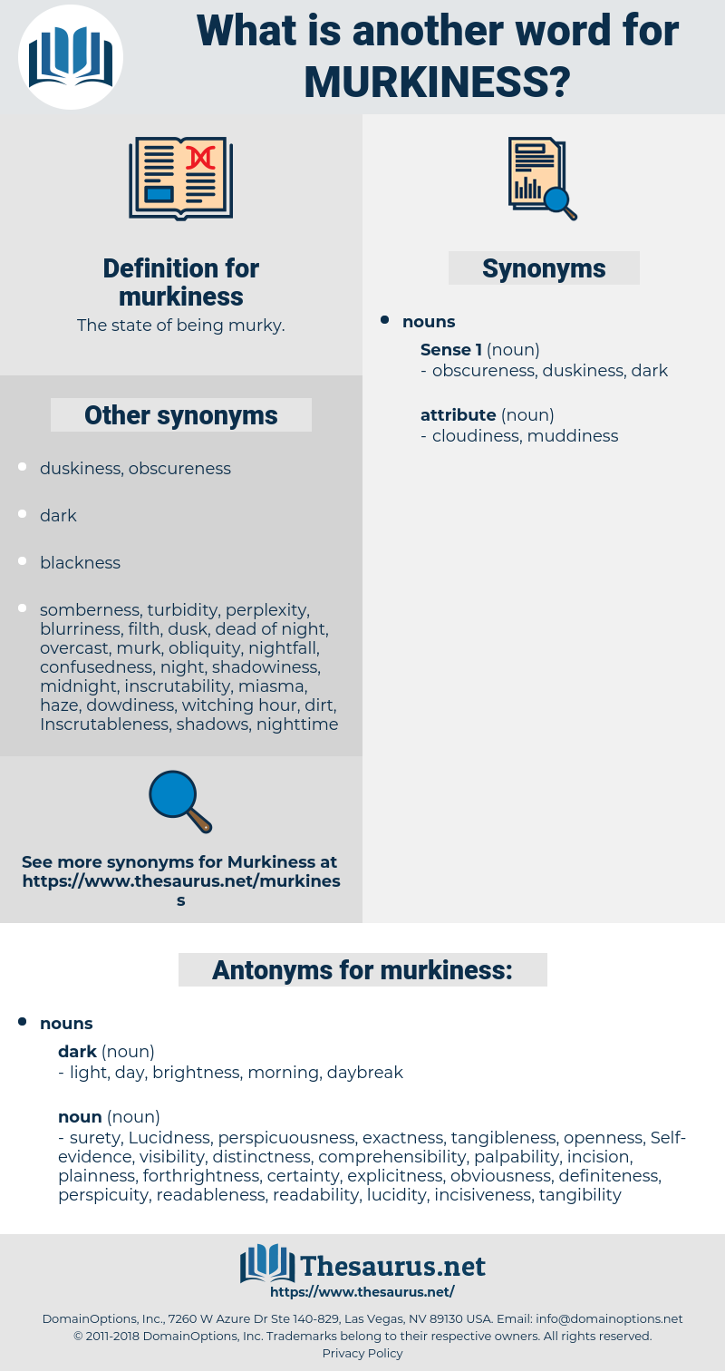 murkiness, synonym murkiness, another word for murkiness, words like murkiness, thesaurus murkiness