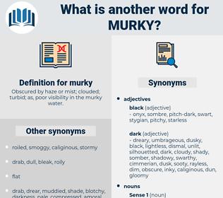 murky, synonym murky, another word for murky, words like murky, thesaurus murky