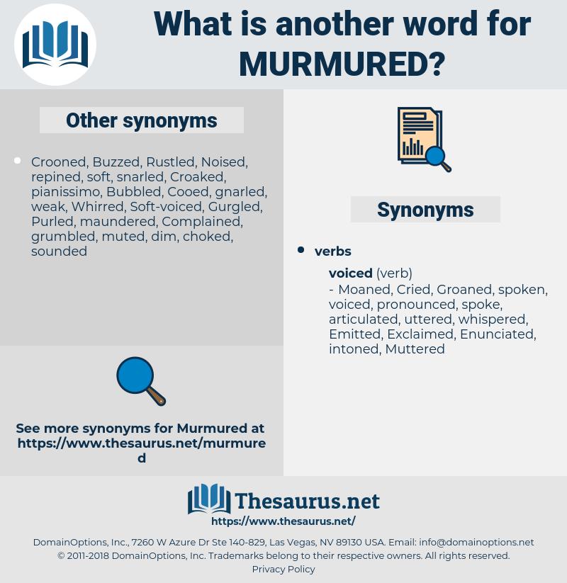 Murmured, synonym Murmured, another word for Murmured, words like Murmured, thesaurus Murmured