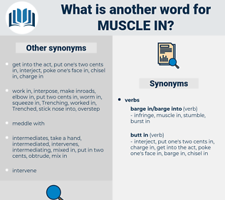 muscle in, synonym muscle in, another word for muscle in, words like muscle in, thesaurus muscle in