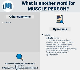 muscle person, synonym muscle person, another word for muscle person, words like muscle person, thesaurus muscle person