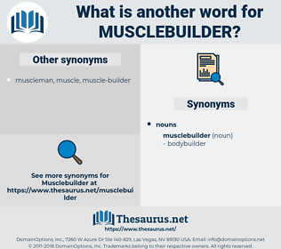 musclebuilder, synonym musclebuilder, another word for musclebuilder, words like musclebuilder, thesaurus musclebuilder