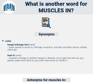 muscles in, synonym muscles in, another word for muscles in, words like muscles in, thesaurus muscles in