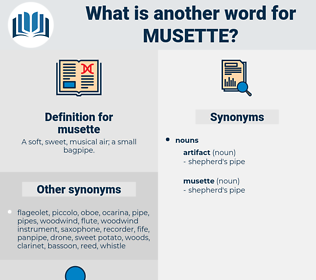 musette, synonym musette, another word for musette, words like musette, thesaurus musette