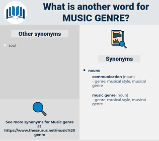 music genre, synonym music genre, another word for music genre, words like music genre, thesaurus music genre