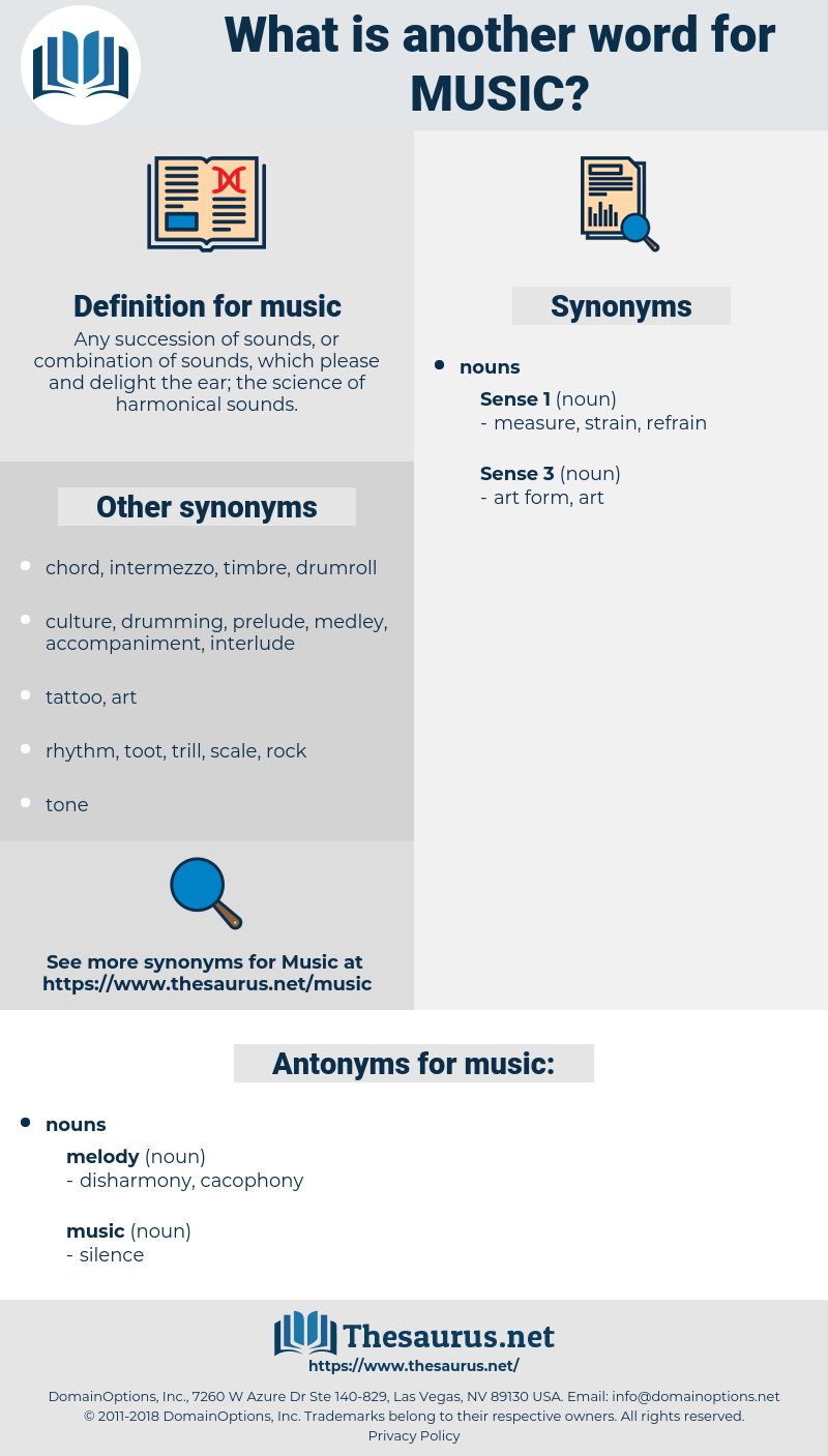 music, synonym music, another word for music, words like music, thesaurus music