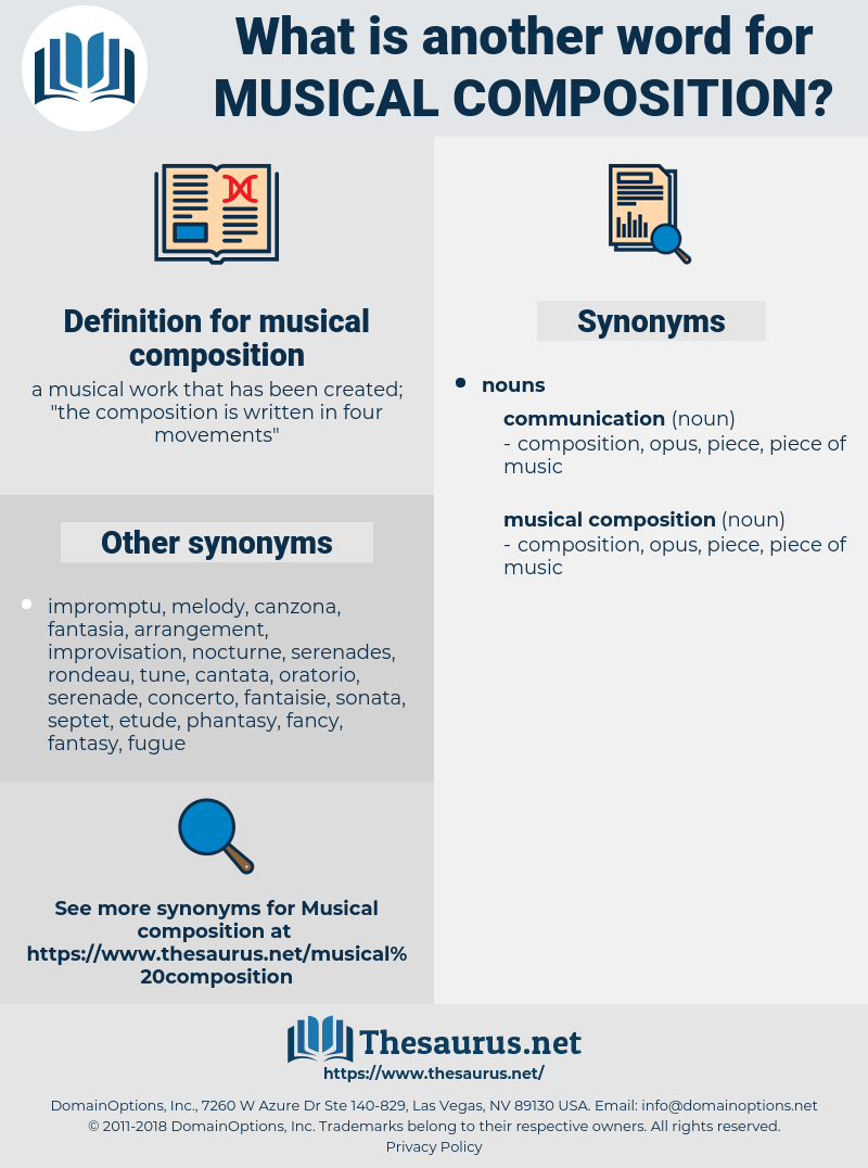 musical composition, synonym musical composition, another word for musical composition, words like musical composition, thesaurus musical composition