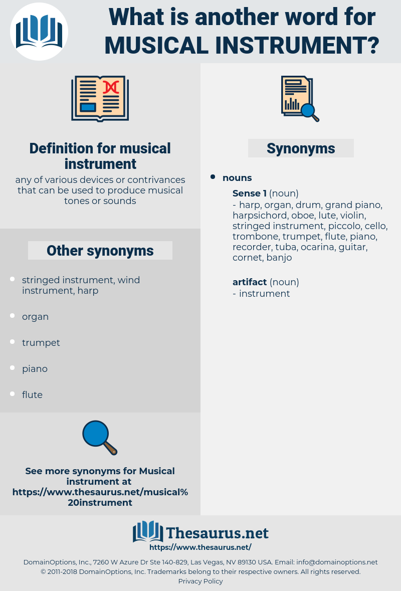 musical instrument, synonym musical instrument, another word for musical instrument, words like musical instrument, thesaurus musical instrument