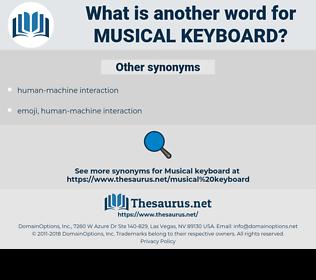musical keyboard, synonym musical keyboard, another word for musical keyboard, words like musical keyboard, thesaurus musical keyboard