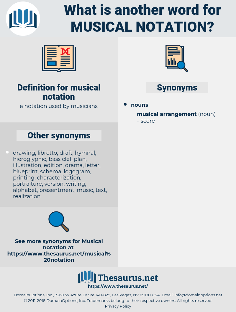 musical notation, synonym musical notation, another word for musical notation, words like musical notation, thesaurus musical notation