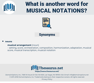 musical notations, synonym musical notations, another word for musical notations, words like musical notations, thesaurus musical notations