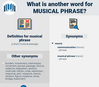 musical phrase, synonym musical phrase, another word for musical phrase, words like musical phrase, thesaurus musical phrase