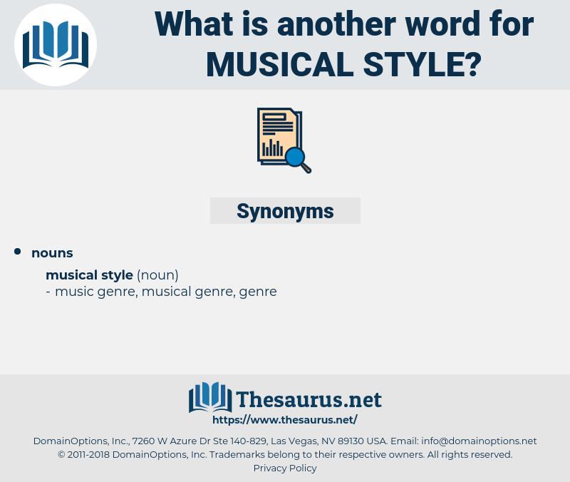 musical style, synonym musical style, another word for musical style, words like musical style, thesaurus musical style