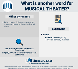 musical theater, synonym musical theater, another word for musical theater, words like musical theater, thesaurus musical theater