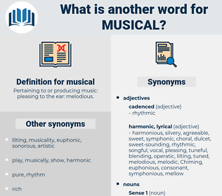 musical, synonym musical, another word for musical, words like musical, thesaurus musical