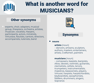 musicians, synonym musicians, another word for musicians, words like musicians, thesaurus musicians