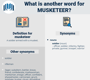 musketeer, synonym musketeer, another word for musketeer, words like musketeer, thesaurus musketeer