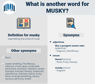 musky, synonym musky, another word for musky, words like musky, thesaurus musky