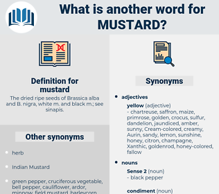 mustard, synonym mustard, another word for mustard, words like mustard, thesaurus mustard