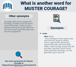 muster courage, synonym muster courage, another word for muster courage, words like muster courage, thesaurus muster courage