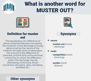 muster out, synonym muster out, another word for muster out, words like muster out, thesaurus muster out