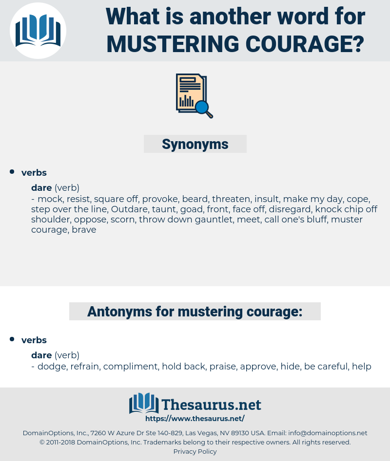 mustering courage, synonym mustering courage, another word for mustering courage, words like mustering courage, thesaurus mustering courage