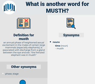 musth, synonym musth, another word for musth, words like musth, thesaurus musth