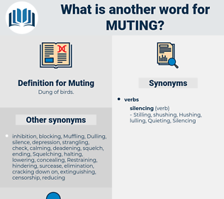 Muting, synonym Muting, another word for Muting, words like Muting, thesaurus Muting
