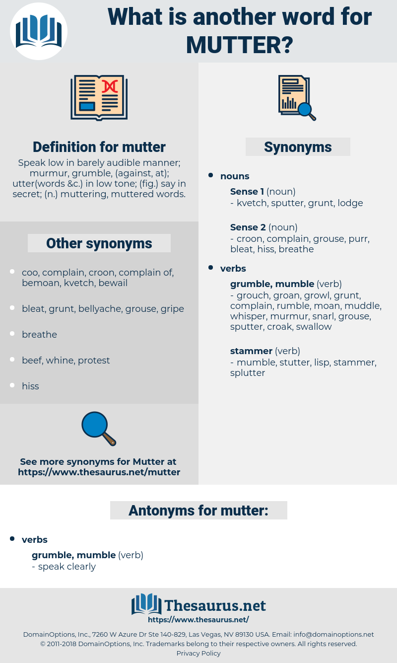 mutter, synonym mutter, another word for mutter, words like mutter, thesaurus mutter