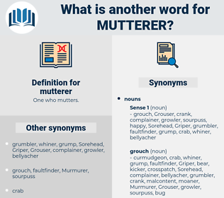 mutterer, synonym mutterer, another word for mutterer, words like mutterer, thesaurus mutterer