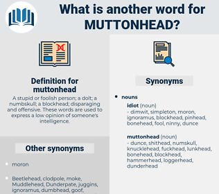 muttonhead, synonym muttonhead, another word for muttonhead, words like muttonhead, thesaurus muttonhead
