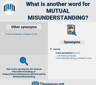 mutual misunderstanding, synonym mutual misunderstanding, another word for mutual misunderstanding, words like mutual misunderstanding, thesaurus mutual misunderstanding
