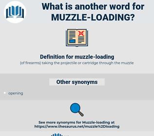 muzzle-loading, synonym muzzle-loading, another word for muzzle-loading, words like muzzle-loading, thesaurus muzzle-loading