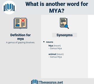 mya, synonym mya, another word for mya, words like mya, thesaurus mya