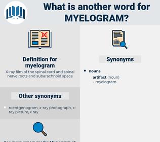 myelogram, synonym myelogram, another word for myelogram, words like myelogram, thesaurus myelogram