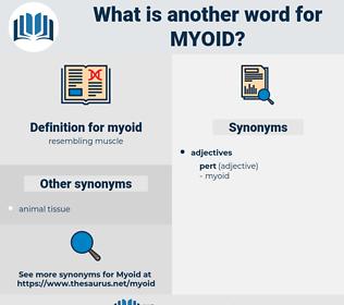 myoid, synonym myoid, another word for myoid, words like myoid, thesaurus myoid