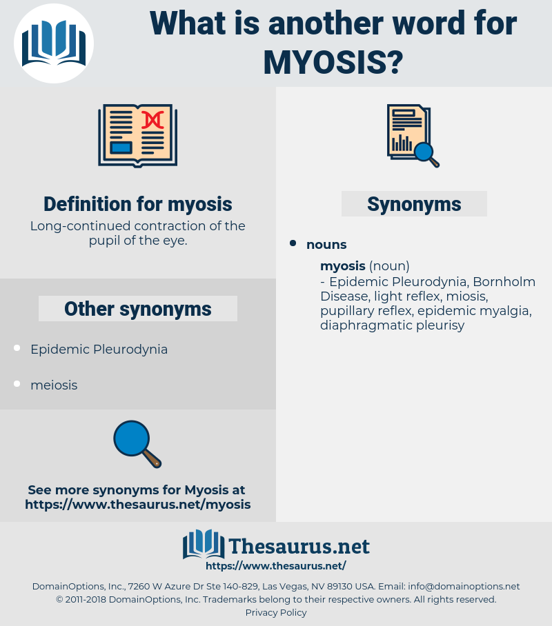 myosis, synonym myosis, another word for myosis, words like myosis, thesaurus myosis