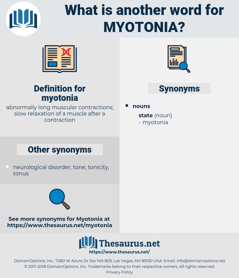 myotonia, synonym myotonia, another word for myotonia, words like myotonia, thesaurus myotonia