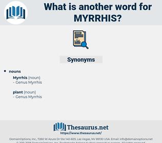 myrrhis, synonym myrrhis, another word for myrrhis, words like myrrhis, thesaurus myrrhis
