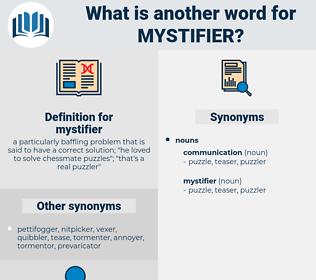 mystifier, synonym mystifier, another word for mystifier, words like mystifier, thesaurus mystifier