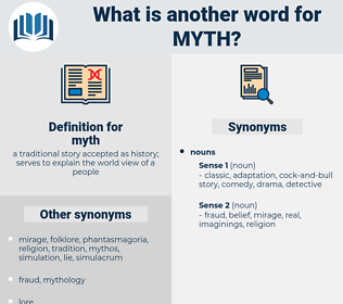 myth, synonym myth, another word for myth, words like myth, thesaurus myth