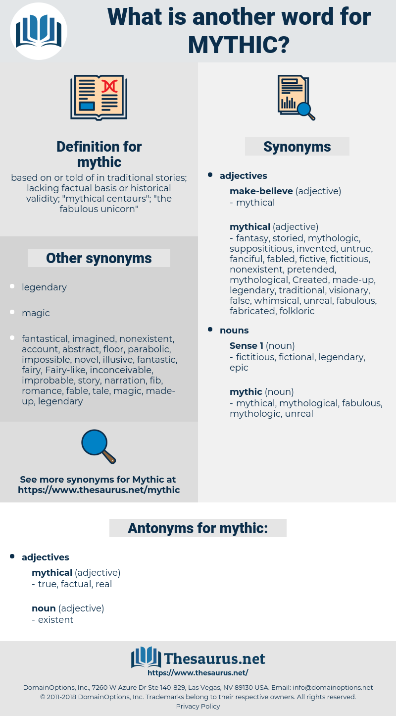 mythic, synonym mythic, another word for mythic, words like mythic, thesaurus mythic