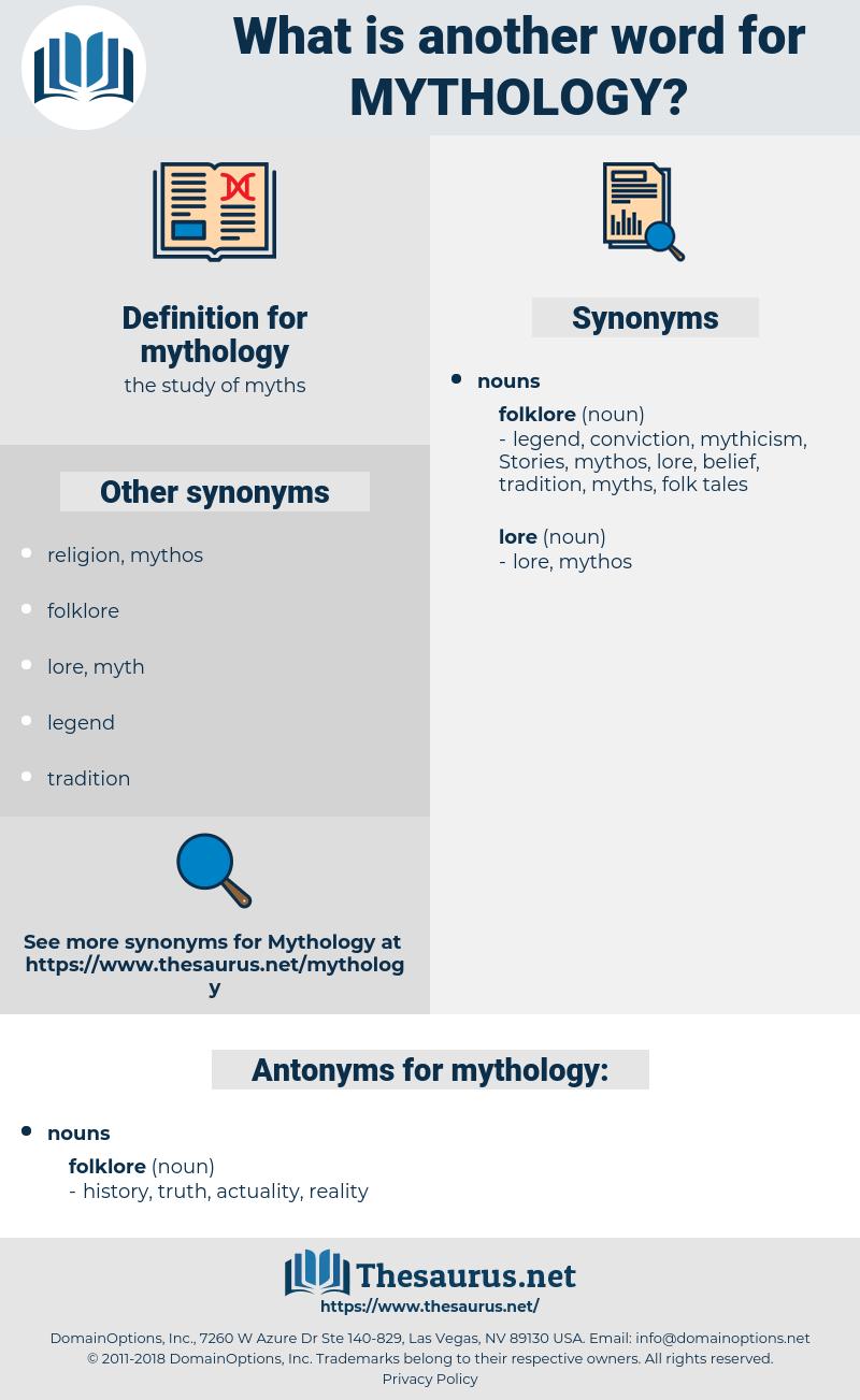 mythology, synonym mythology, another word for mythology, words like mythology, thesaurus mythology