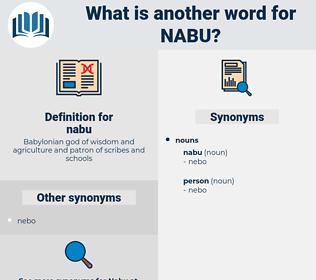 nabu, synonym nabu, another word for nabu, words like nabu, thesaurus nabu