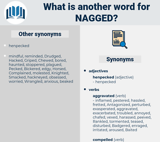 Nagged, synonym Nagged, another word for Nagged, words like Nagged, thesaurus Nagged